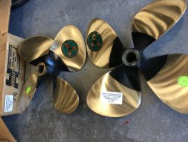 Brand New set of two Nibral/bronze props 4 blades