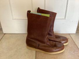 Botte de voile en cuir brun -DOCKSIDES - Sebago