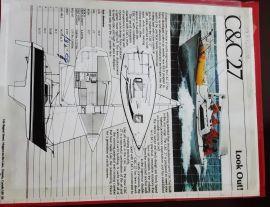 C&C 27 mk v 1988 impeccable, 27 ft, 1988, La pastie